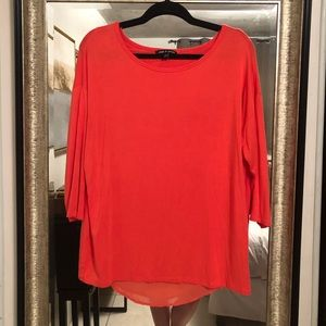 Quarter Sleeve stretch Coral Pink blouse
